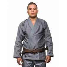 Grey Plain Brazilian Jiu Jitsu Gi