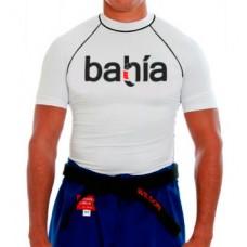 White Shortsleeve Rash Guard BJJ Bahia