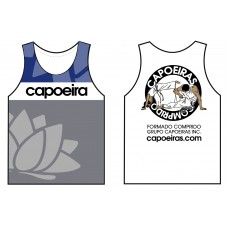 Sleeveless cotton tshirt Grupo Capoeiras Blue