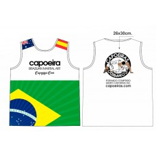 Sleeveless cotton tshirt Grupo Capoeiras Black